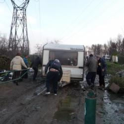 Evacuation du camp de Sampaix - Lyon ST Fons - Mars 2014