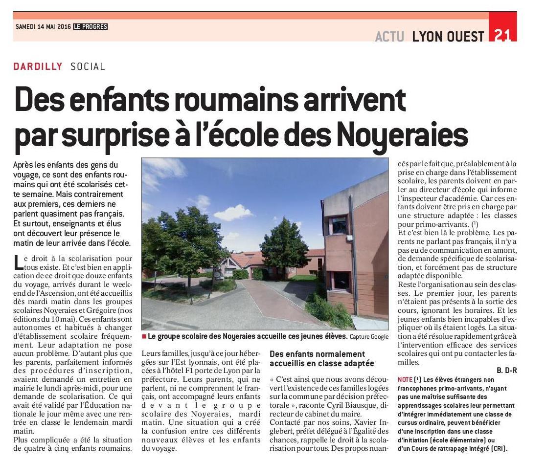 Progres2016 05 14 des enfants roumains arrivent par surprise a l ecole 2